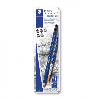 Staedtler 100A G6 - Set of 5 Lumograph Aquarell Water Soluble Pencil