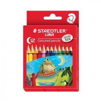 Staedtler 136 C12 - Set of 12 Colours Luna Colour Pencil Permanent