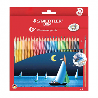 Staedtler 137 10 C24 Classic - Set of 24 Colours Luna Classic Water Colour Pencil