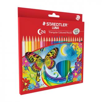 Staedtler 138 10 C24 - Set of 24 Colours Luna School Triangular Watercolour Pencil