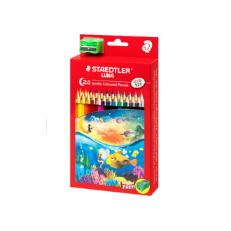 Staedtler 139 C24 - Set of 12 Colours Luna Jumbo Learners Colour Pencil