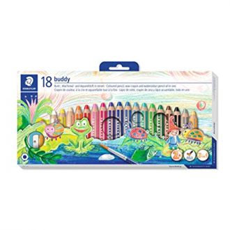 Staedtler 140 C18 - Set of 18 Colours Buddy Thick Colour Lead Jumbo Pencil