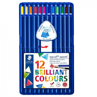 Staedtler 156 SB 12 - Set of 12 Colours Ergo Soft Water Colour Pencil