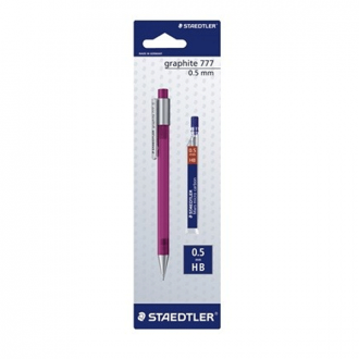 Staedtler 777 05ABKD - 0.5 mm with 1 Pack Lead and Graphite Mechanical Pencil
