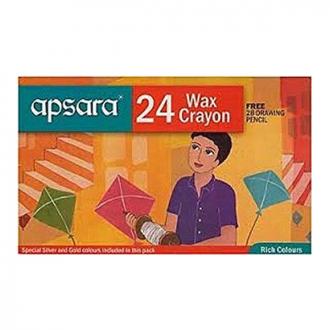 Apsara - 24 Colour Wax Crayon