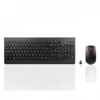 Lenovo - Black Wireless Keyboard and Mouse Combo