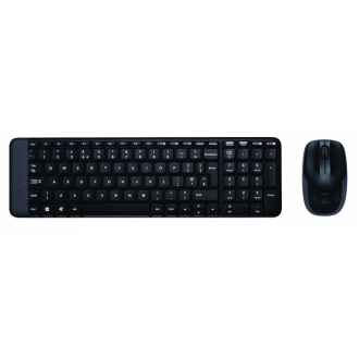 Logitech - Black Wireless Keyboard and Mouse Combo