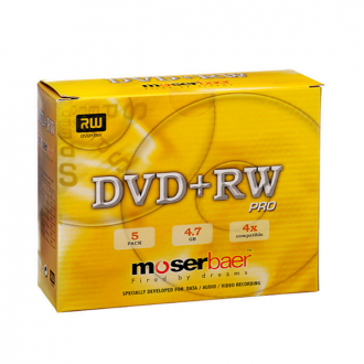 Moserbaer - Single Pack DVD RW with Case