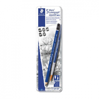 Staedtler 100A 8B BK2 - Lumograph Aquarell Water Soluble Pencils