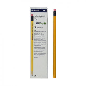 Staedtler 134 HB/2B BK3 - 2 mm, HB and 2B Yellow Pencils
