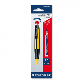 Staedtler 771 - 1.3 mm White Mechanical Pencil Colour with1 Pack Lead