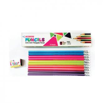 Kores - 10 Colours, Funcil Triangular Colour Pencil