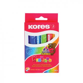Kores - 12 Shades kool Toolz Jumbo Wax Crayons