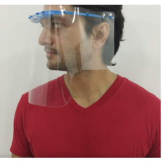 Amaze India - Pack of 10, 300 micron, Clear Reusable PPE Face Shield for Face, Eyes and Ears - It can be recycled after disinfection. It is made up of super transparent recyclable PET. It is light in weight and has a clear vision. It is easy to wear and use. It has a large area from eyebrows to chin to protect against foreign particles on your face. It has a foam strip and elastic band for a firm and comfortable wear.
