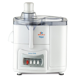 Bajaj MAJESTY JUICER ONE - 500 W, 2 litres Pulp Collector and Easy to Clean Design Juicer – It is an elegant juicer meant for daily nutritional needs. Bajaj MAJESTY JUICER ONE has a powerful 500 watts motor that results in easy juicing. It is preferred for its super-fine mesh feature and high performance. The three-speed control with the piano button allows the smooth usage and variable speed option for several types of ingredients. The detachable pulp container is easy to remove and clean. It comes with a spatula for easy removal of the mix. Bajaj Majesty has a shockproof ABS body with a transparent top cover.