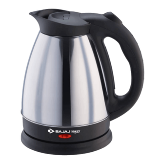 Bajaj KTX 15 - 2000 W, 1.7 litres, Black Travel Electric Kettle – It has an automatic or manual switch off for safety purpose. The 360-degree connector with detachable base increases the convenience of use. Bajaj KTX 15 comes with the highly durable and spill-proof lid that has a single touch locking mechanism. It offers a quick and efficient way to prepare tea or coffee. The electric kettle is ergonomically designed and has stylish looks. Black Travel Electric Kettle comes with the overheat protection feature. The automatic off function gets activated when the kettle dries up to avoid the fatalities.