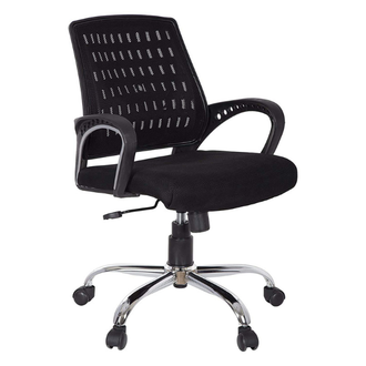 This executive chair upholstered in Mesh which provide ultimate comfort sitting experience. The mid back design gives you maximum lumbar support for comfort and convenience. The chair has soft padding.