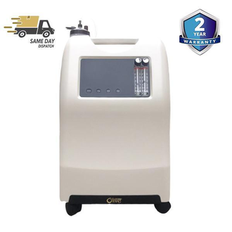 Olive OLV 5A - 0-5 LPM Continuous Flow Medical Grade Oxygen Concentrator is a medical device that uses air as raw material and a high-quality molecular sieve as an adsorbent. It works on the principle of pressure swing adsorption to separate the oxygen from nitrogen at normal temperature. Olive Oxygen Concentrator has the basic function of supplying oxygen to patients treated for their cardiovascular and cerebrovascular diseases, respiratory diseases, chronic obstructive pneumonia, etc. This oxygen concentrator is an ideal option for middle-aged and older adults with poor health conditions, pregnant women, students, etc. Using this equipment, the user can experience less fatigue and restore somatic function after heavy physical or mental exertion.